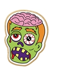 Zombie Decorated Printed Cookies - 2.5 Oz.
