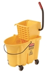 Wavebrake Yellow Bucket Wringer - 35 Quart