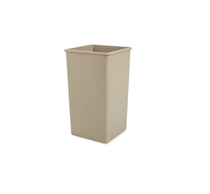 Base Square Beige Top Container