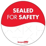 Circle Tamper Seal Labels - 3 in.