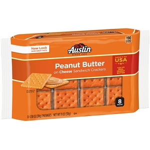 Austin Crackers Cheese With Peanut Butter - 11 oz.