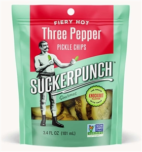 3 Pepper Fire Pickle Chip Pouch - 3.4 oz.