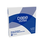 Dixie Ultra Grease Resistant Sandwich Wrap and Liner White - 12 in. x 12 in.