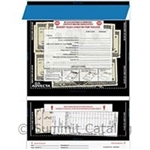 Cash Deposit Bag With K-Pouch On Back Clear - 10 in. x 14 in.