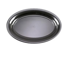 EMI Yoshi Black Party Tray Oval Platter - 11 in. x 16 in.