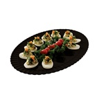 EMI Yoshi 12 Eggs Deviled Black Tray - 11 in.x16 in.