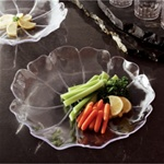 EMI Yoshi Flower Shallow Clear Bowl - 12 in.