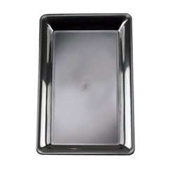 EMI Yoshi Black Party Tray Rectangular Platter - 12 in. x 18 in.