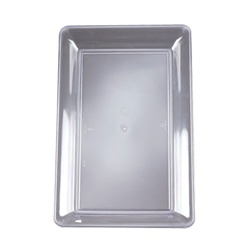 EMI Yoshi Clear Party Tray Rectangular Platter - 12 in. x 18 in.