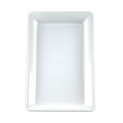 EMI Yoshi White Party Tray Rectangular Platter - 12 in. x 18 in.