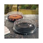 EMI Yoshi Deli Mate Black 14 in. Round Tray with Dome OPS Lid