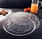 EMI Yoshi Deli Mate Clear 18 in. Round Tray with Dome OPS Lid