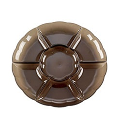 EMI Yoshi Round Dome 7 Compartment Smoke Tray - 18 in.