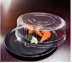 EMI Yoshi White Round Tray with Dome Pet Lid - 14 in.