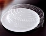 EMI Yoshi Round White Tray with Dome OPS Lid - 14 in.