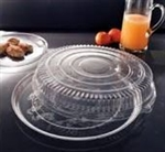 EMI Yoshi Round Clear Tray with Dome Pet Lid - 18 in.
