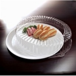 EMI Yoshi Round White Tray with Dome Pet Lid - 18 in.