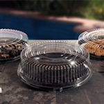 EMI Yoshi Deli Max Round Black Tray with Dome Pet Lid - 16 in.