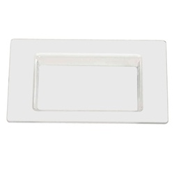 EMI Yoshi Small Wonders Square Mini Plate - Pearlized White