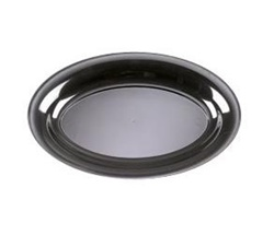 EMI Yoshi Party Tray Oval Black Platter - 8 in. x 12 in.