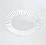 EMI Yoshi Resposable Plastic Clear Dinner Plate - 10 in.