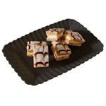 EMI Yoshi Resposable Black Snack Tray - 5 in. x 7 in.
