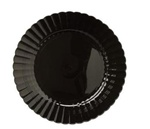 EMI Yoshi Resposable Black Salad Plate - 7.5 in.