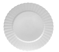 EMI Yoshi Resposable White Plastic Dinner Plate - 9 in.