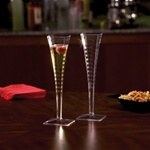 EMI Yoshi Poly Bagged Square Champagne Glass 1 Piece Clear - 5 Oz.