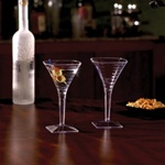 EMI Yoshi Poly Bagged Clear Square Champagne Glass 1 Piece - 8 Oz.
