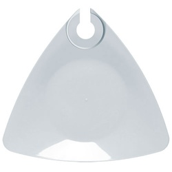EMI Yoshi Triangle Buffet Plate With Wine Holder - White