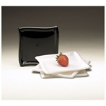 EMI Yoshi Square Wave Dessert Plate Black - 6 in.