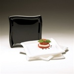 EMI Yoshi Square Wave Salad Plate Black - 7 in.