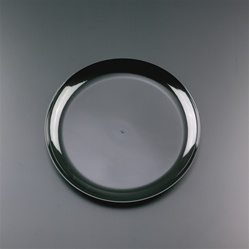 EMI Yoshi Clear Wear Dinner Plate Black - 9 in.