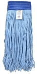 Blended Cotton Wide Band Cut End Blue Mop Head - 5 in.