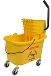 Mop Bucket With Side Press Wringer Combo Yellow - 35 Qt.