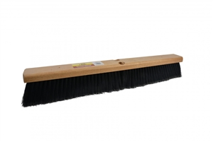 Polypropylene Flag Bristles Threaded Holes Push Broom - 24 in.