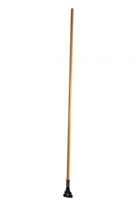 Wood Mop Handle with Metal Swivel Clip - 60 in.