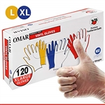 Non-Medical Clear Vinyl Powder Free X-Large Gloves