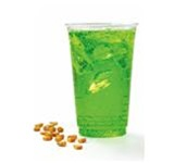 Greenware Rolled Rim Clear 16 oz. - 18 oz. Plastic Drink Cups