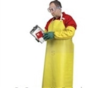 Apron Nitrile with Belly Band Sewn Edge Yellow - 35 in. x 48 in.