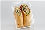 Sandwich Wrap Tamper Evident Clear Container - 13.19 in. x 5.13 in. x 2.23 in.