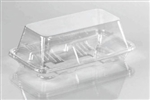 Mini Sub Sandwich Clear Small Pet Container with Lid - 7 in.