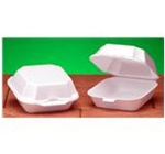 Quality-To-Go Sandwich Containers, 5.19in.Wx5.13in.Lx2.75in.H, Square, Hinged, White