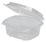 Clear Hinged Deli Container, APET, 12 oz, 5 3/8 x 4 1/2 x 2 7/8, - 200 Per Carton