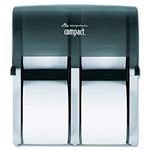 Compact Four Roll Coreless Tissue Dispenser Smoke