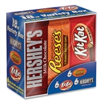 Full Size Chocolate Candy Bar Variety Pack Assorted  18 Bars - 1.5 Oz.