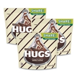 Hugs Candy Milk Chocolate with White Creme 3 Bags - 1.6 Oz.