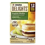 Delights English Muffin Turkey Sausage Egg White and Cheese - 61.2 Oz.