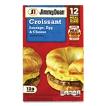 Croissant Breakfast Sandwich Sausage Egg and Cheese 12 Count - 54 Oz.